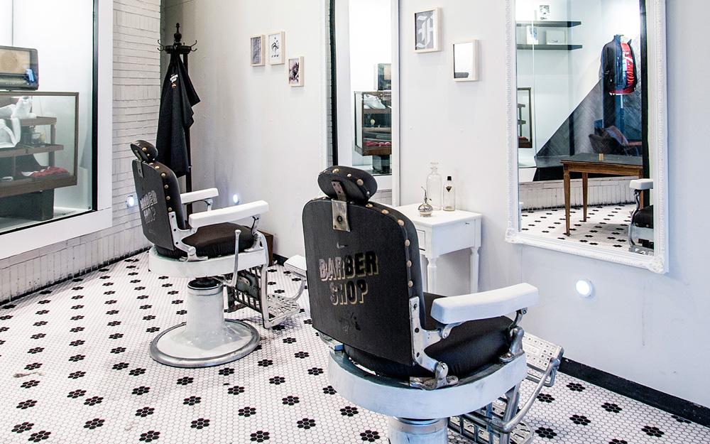 nike barber shop colin cornwell design art direction