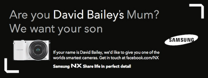 Samsung We Are David Bailey billboard ad