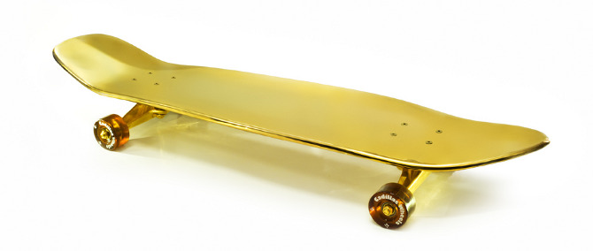 24k Gold Skateboard - Mixed Business